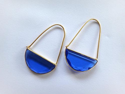 Macke Earrings - Dark Blue Quartz