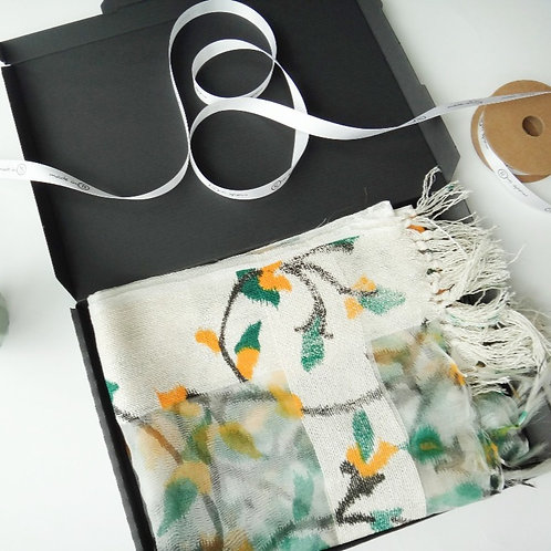 Floral Cotton Scarf