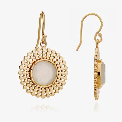 Moonstone Drop Earrings Etrusca Round