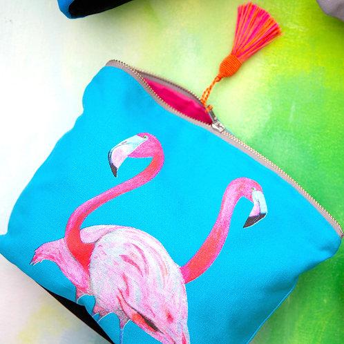 Cosmetic Bag - Flossy & Amber Flamingo
