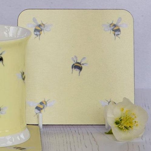 Yellow Bee-themed Coaster