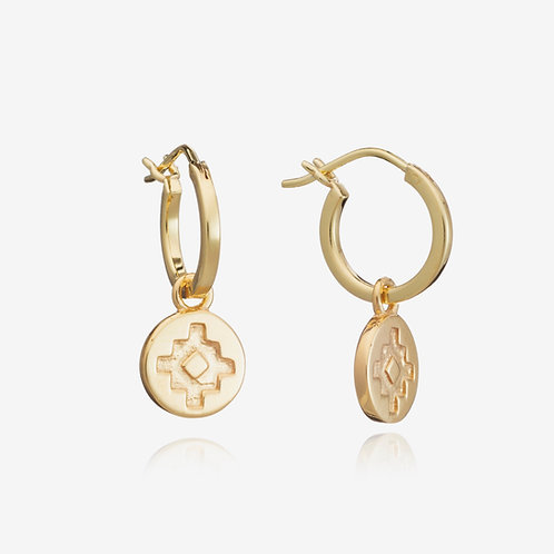 Navajo Charm Small Hoop Earring