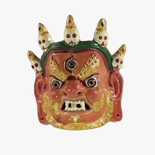 Hand-painted Traditional Bhutanese Mask -Red