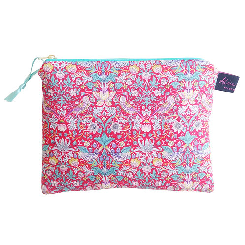Make-up Pouch - Strawberry Red