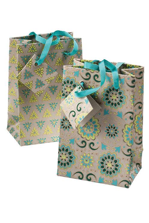 Handmade Paper Gift Bags - Ivory (Set of 4)