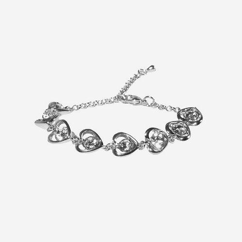 Handmade Crystal Heart Bracelet