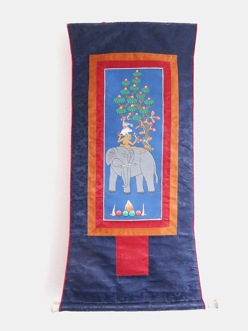 Thangka - The Four Friends Wall Hanging