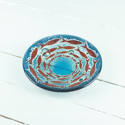 Handmade Cornish Pilchards Round Dish