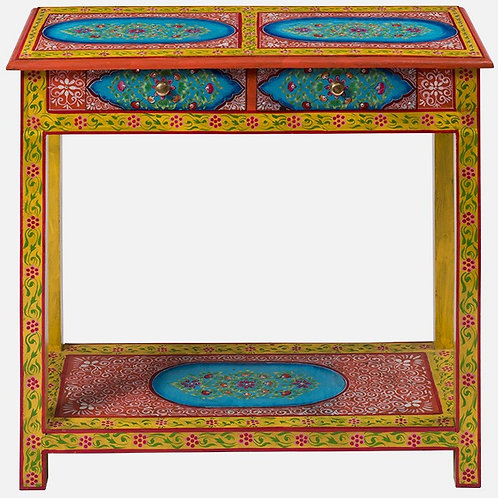 Hand Painted 2 Drawer Console Table