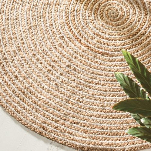 Eco-friendly Natural Braided Round Jute Rug - 90cm