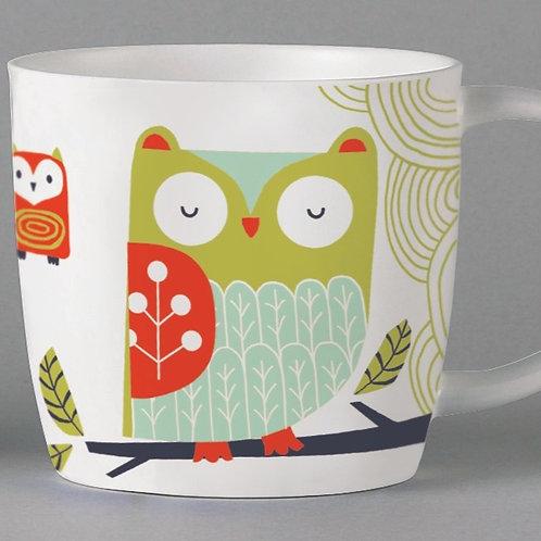 Folkland Barn Owl Mug - White