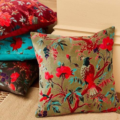 Birds of Paradise Cushion Cover - Olive