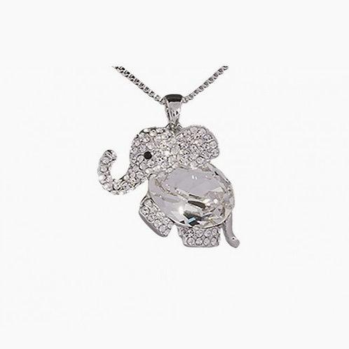 Handmade Crystal Elephant Necklace