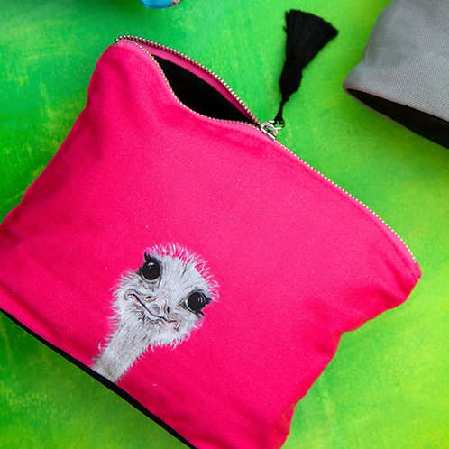 Cosmetic Bag - Camilla Ostrich Print