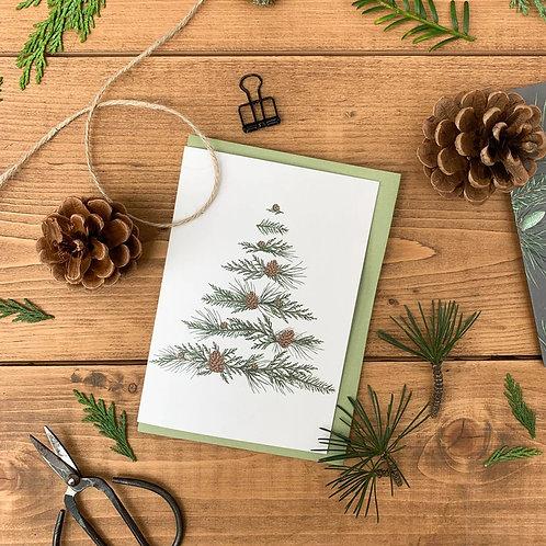 Xmas Tree Christmas Cards (Set of 3)