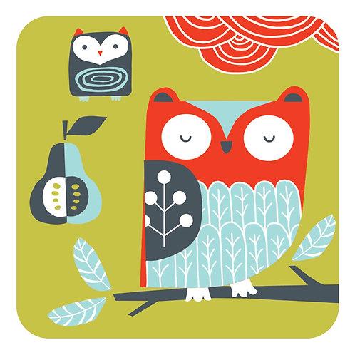 Folkland Barn Owl Coaster