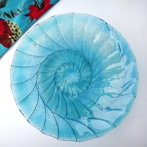 Handmade Ammonite Glass Bowl