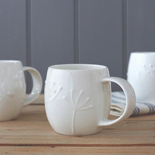 Assorted Small Plum Mugs -  Set of 4