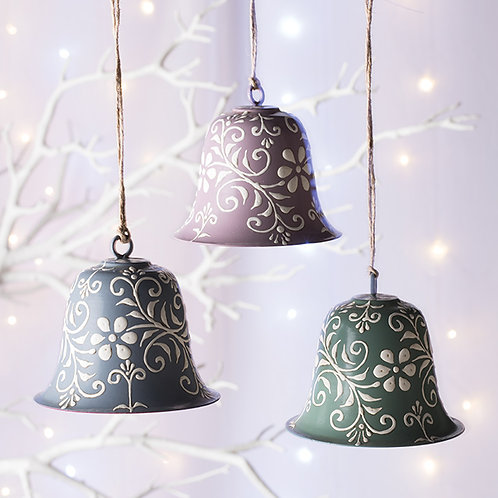 Hand Painted Bell Hanging Decoration - Set of 6