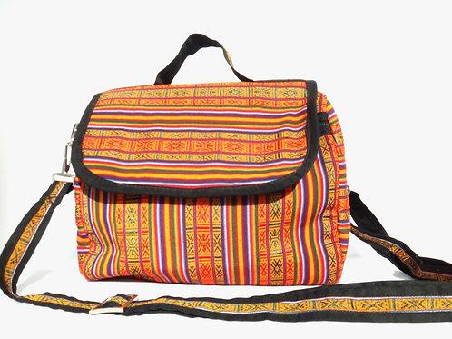 Handwoven Striped Shoulder Bag