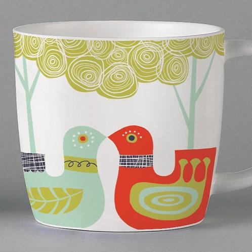 Folkland Lovebirds Mug - White