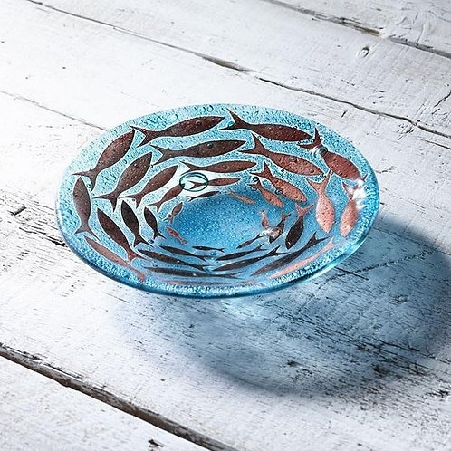 Handmade Cornish Pilchards Small Round Dish