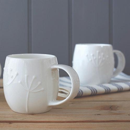 Small Plum Mugs -  Set of 2