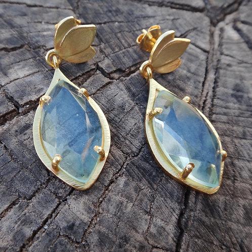 Tulip Earrings - Light Blue Hydro