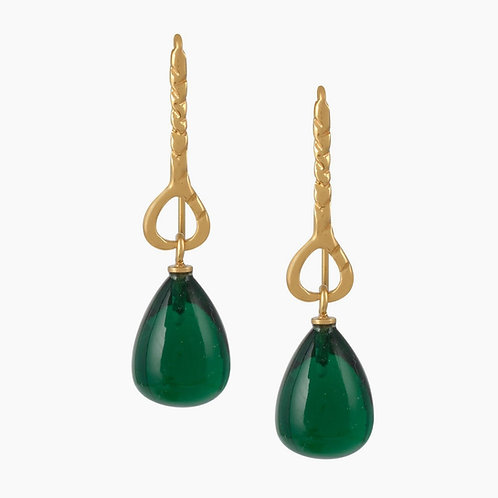 Helena Earrings - Emerald Green