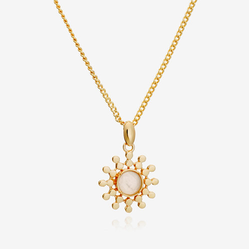 Handcrafted Sun Drop Pendant Necklace - Moonstone