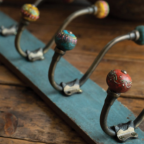 Hand Painted Antique Finish Hook
