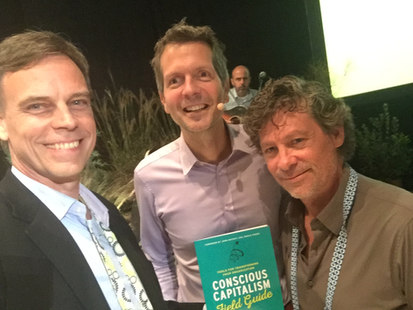 Thomas Eckschmidt, Frederic laloux (Reinventing Organization) and Raul Romeroa Havaux (Integralis Consulting Group)