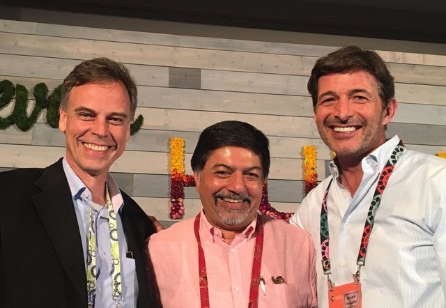 Co-authors of Conscious Capitalism Field Guide, from left to right: Thomas Eckschmidt, Raj Sisodia and Timothy Henry