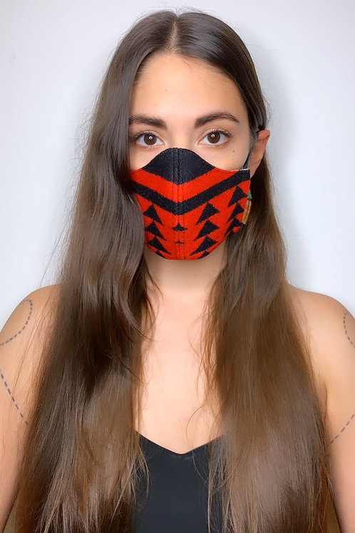 RED SPLIT-SHOT FACE MASK