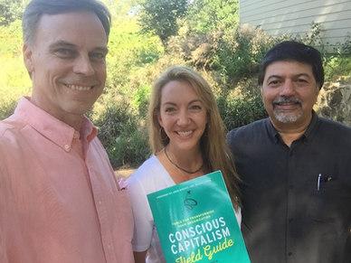 Thomas Eckschmidt, Haley Rushing (The Purpose Institute) and Raj Sisodia