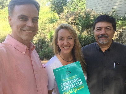 Thomas Eckschmidt, Haley Rushing (The Purpose Institute) and Raj Sisodia