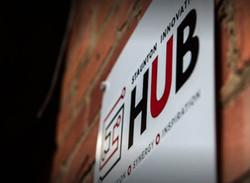 Innovation hub sign