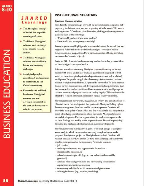 Business Instructional Strategies