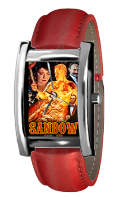 SANDOW rectangular dress watch