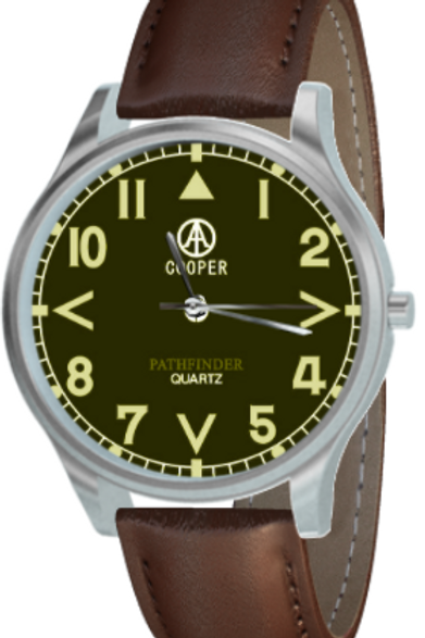 Cooper Pathfinder Olive Green Pilot's Watch
