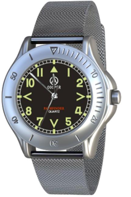 Cooper Pathfinder - mesh bracelet watch