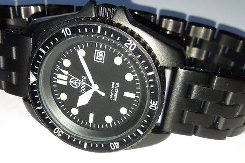 COOPER SUBMASTER BLACK PVD MILITARY DIVERS WATCH / ENGINEER BRACELET SM8016BRA
