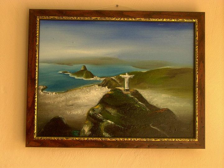 Olio su tela - Jesus Rio de Janeiro