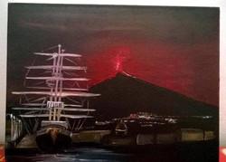 Olio su tela - Etna