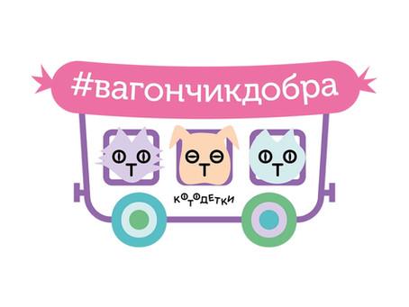 «ВАГОНЧИК ДОБРА»Следующая остановка - Зеленоградский приют!