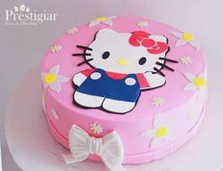 Esse bolo fofo da Hello Kitty feito com