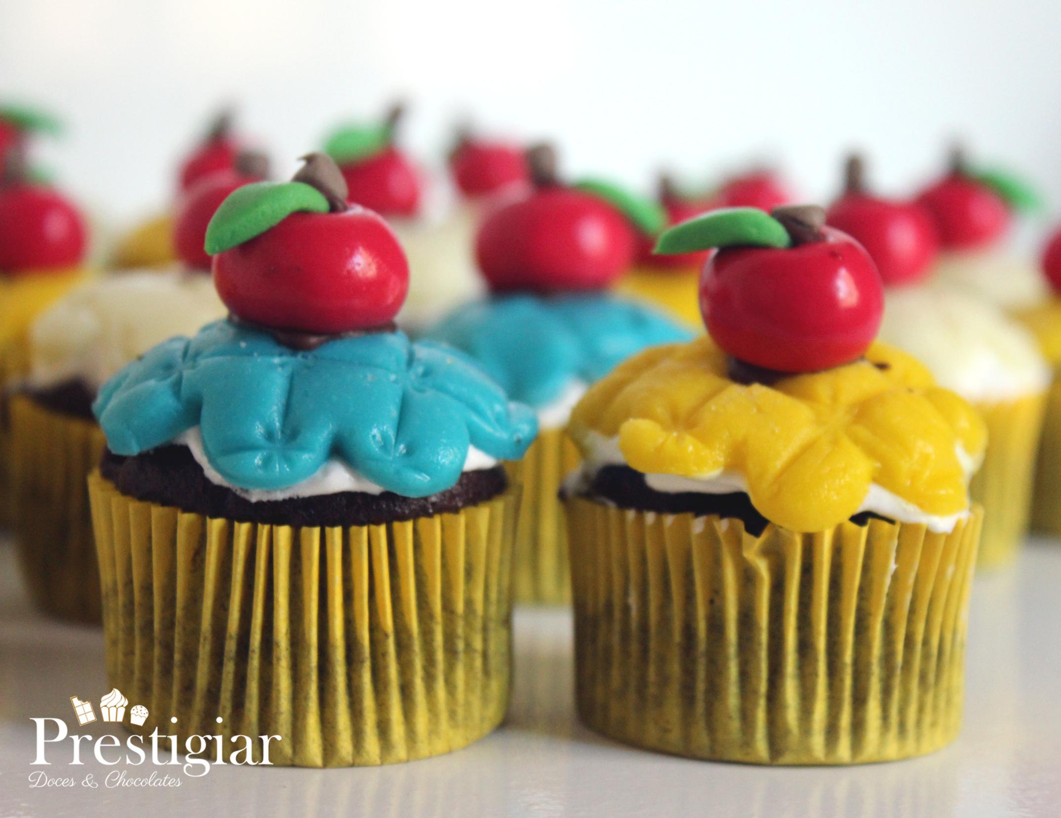 Mini cupcakes - Branca de neve