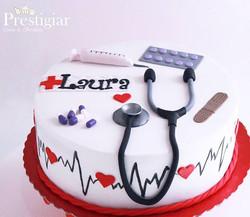 👩⚕️❤ Teve bolo com tema saúde para par