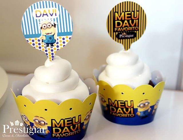 Cupcakes personalizados #prestigiar #minions