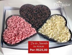 😘💑💏💕💘#diadosnamorados _Pra você que quer prestigiar quem você ama! - Trio de Coração de chocola